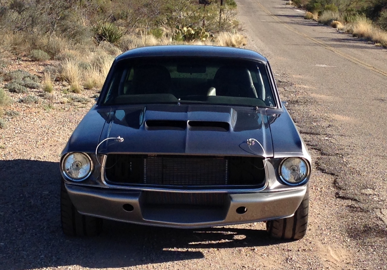 67 68 Mustang Hood W Highrise Shelby Scoop Maier Racing